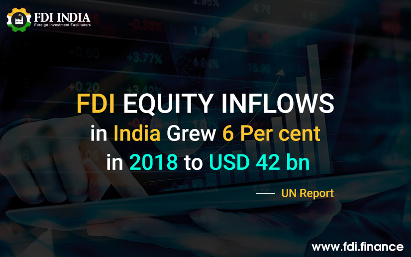 FDI equity inflows in India grew 6 per cent in 2018 to USD 42 bn UN Report
