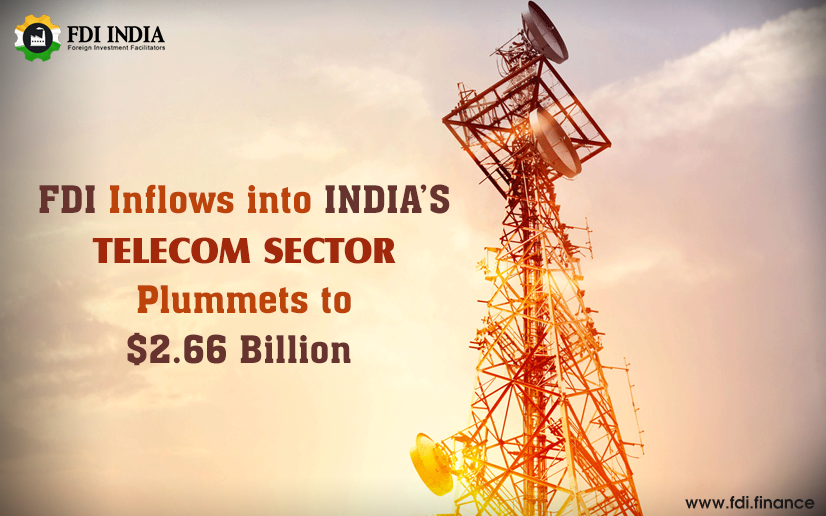FDI inflows into indias telecom sector plummets to $2.66 billion