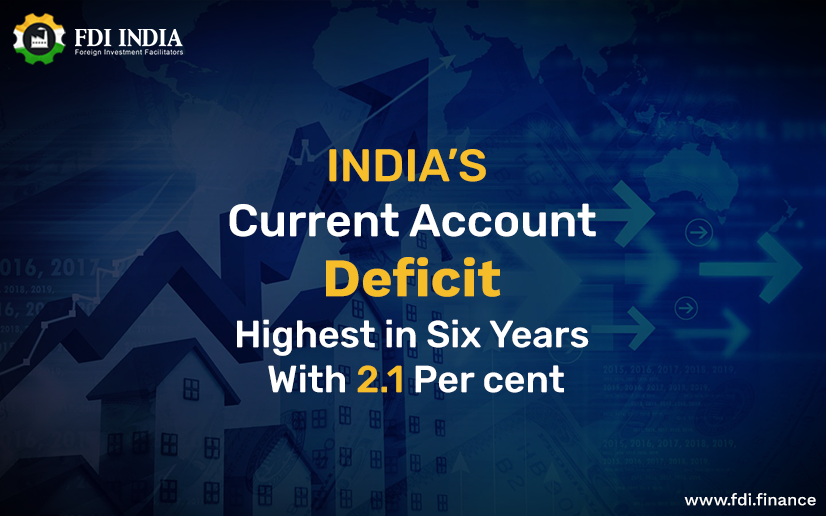 india current account deficit highest in six years with 2.1 per cent