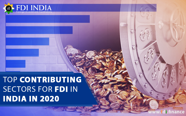 Top contributing sectors for FDI in India in 2020