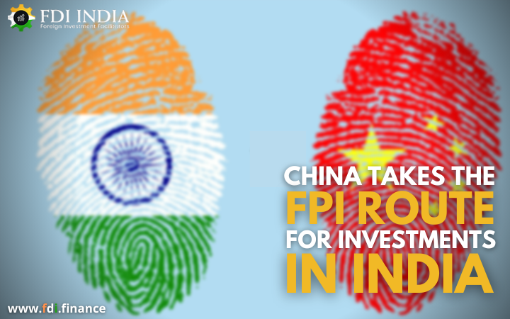 China Takes the FPI Route for Investments in India