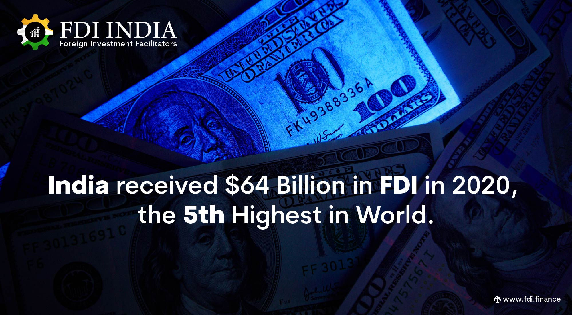 India Received $64 Billion in FDI in 2020, the 5th Highest in World