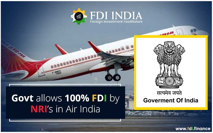 Govt Allows 100?I by NRI's In Air India