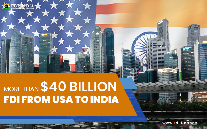 More than $40 billion FDI from USA to India