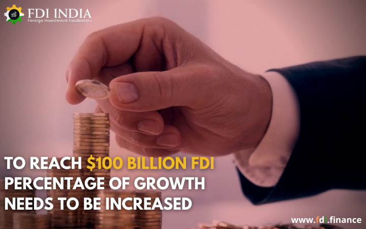 To Reach $100 Billion FDI Percentage Of Growth Needs To Be Increased
