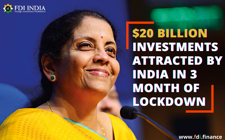 $20 Billion Investments Attracted By India in 3 Month of Lockdown