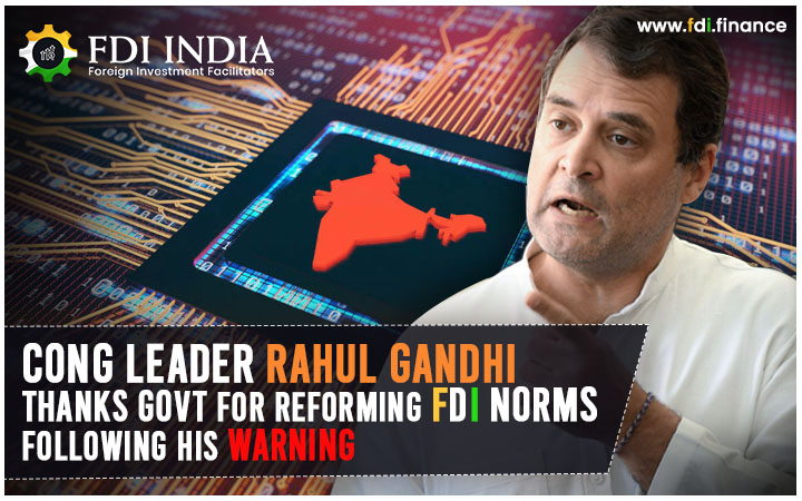 Cong leader Rahul Gandhi Thanks Govt for Reforming  FDI Norms Following his Warning