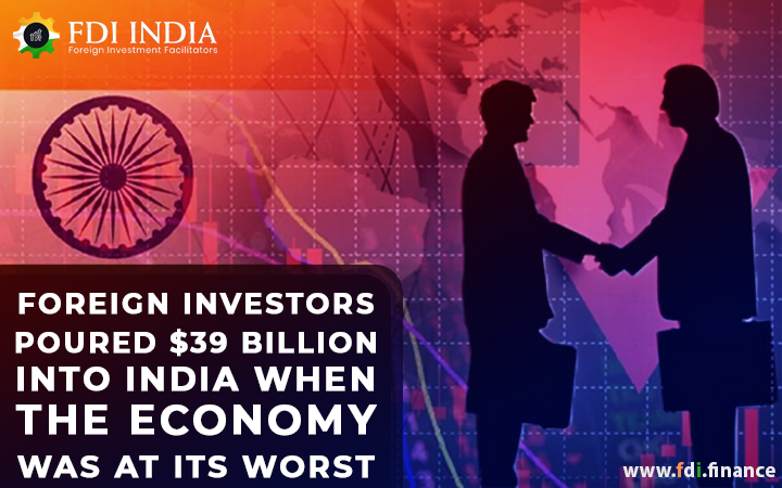 Foreign Investors Poured $39 Billion Into India When The Economy Was At Its Worst
