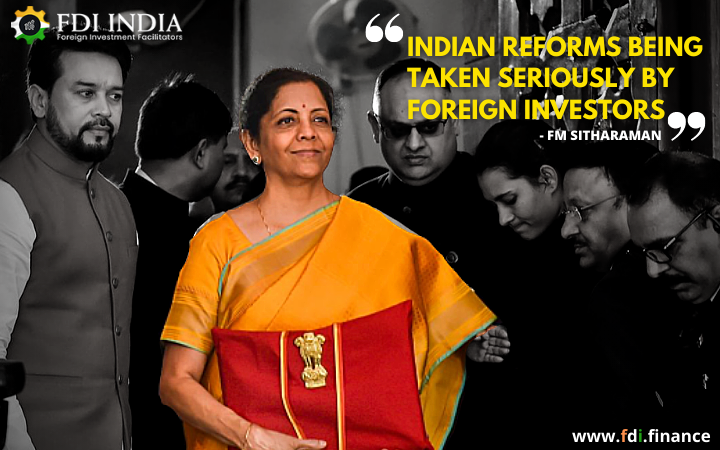 FM Sitharaman-Indian Reforms Being Taken Seriously by Foreign Investors