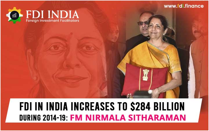 FDI in India increases to $284 billion during 2014-19: FM Nirmala Sitharaman