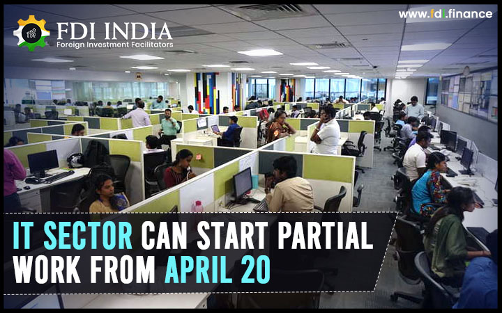 IT Sector Can Start Partial Work from April 20