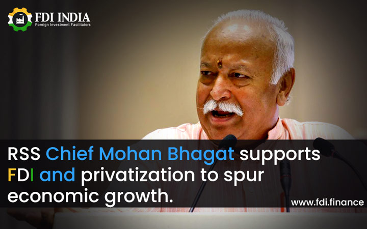 RSS Chief Mohan Bhagat Supports FDI And Privatization To Spur Economic Growth