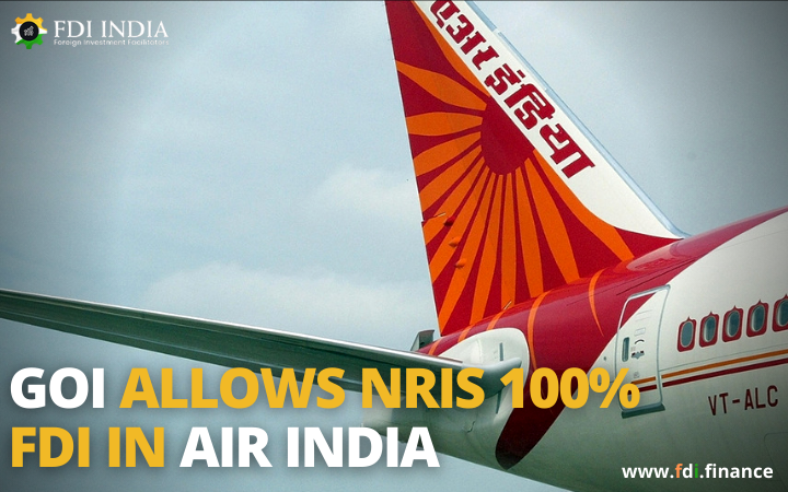 GOI Allows NRIs 100?I in Air India