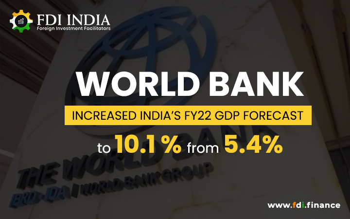 World Bank Increased India's FY22 GDP Forecast To 10.1 Per Cent From 5.4%
