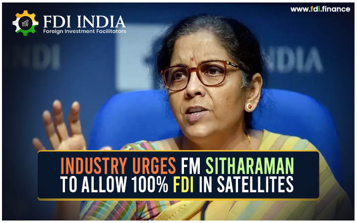 Industry Urges FM Sitharaman to Allow 100?I in Satellites