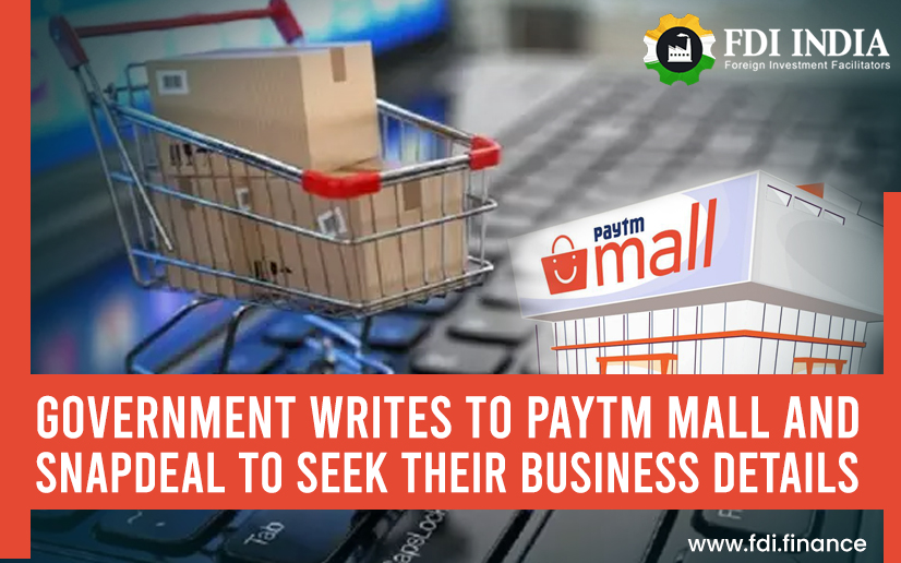 Government Writes To Paytm Mall and Snapdeal to Seek Their Business Details