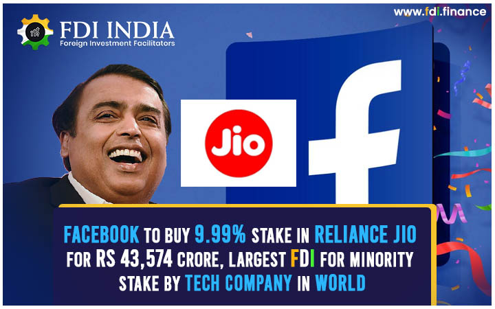 Facebook to Buy 9.99% Stake in Reliance Jio, Largest FDI for Minority Stake by Tech Firm