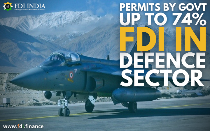 Permits by Govt up to 74?I in Defence Sector