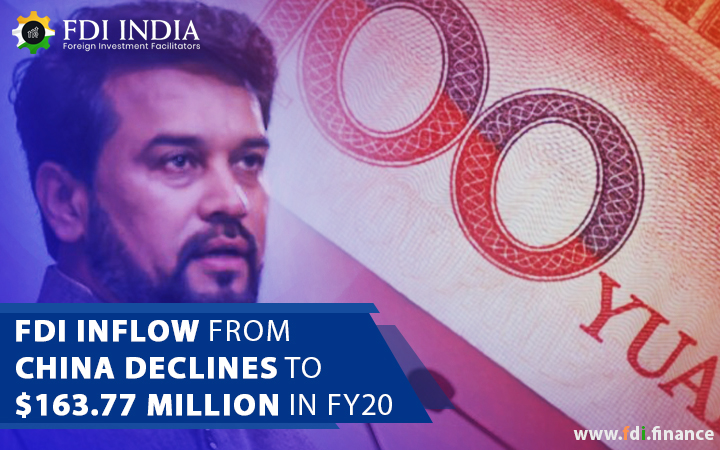 FDI Inflow From China Declines To $163.77 Million In FY2