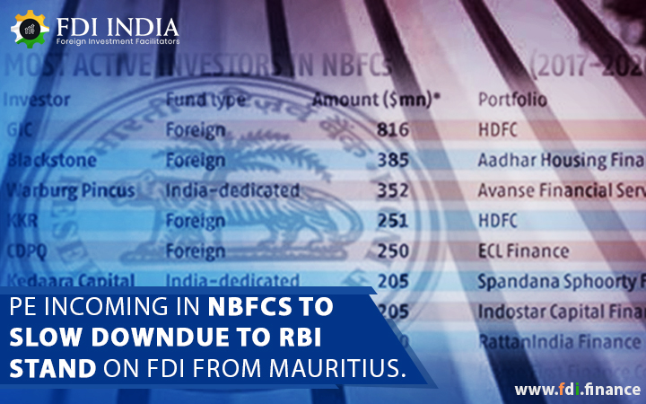 PE incoming in NBFCs to slow down due to RBI's stand on FDI from Mauritius