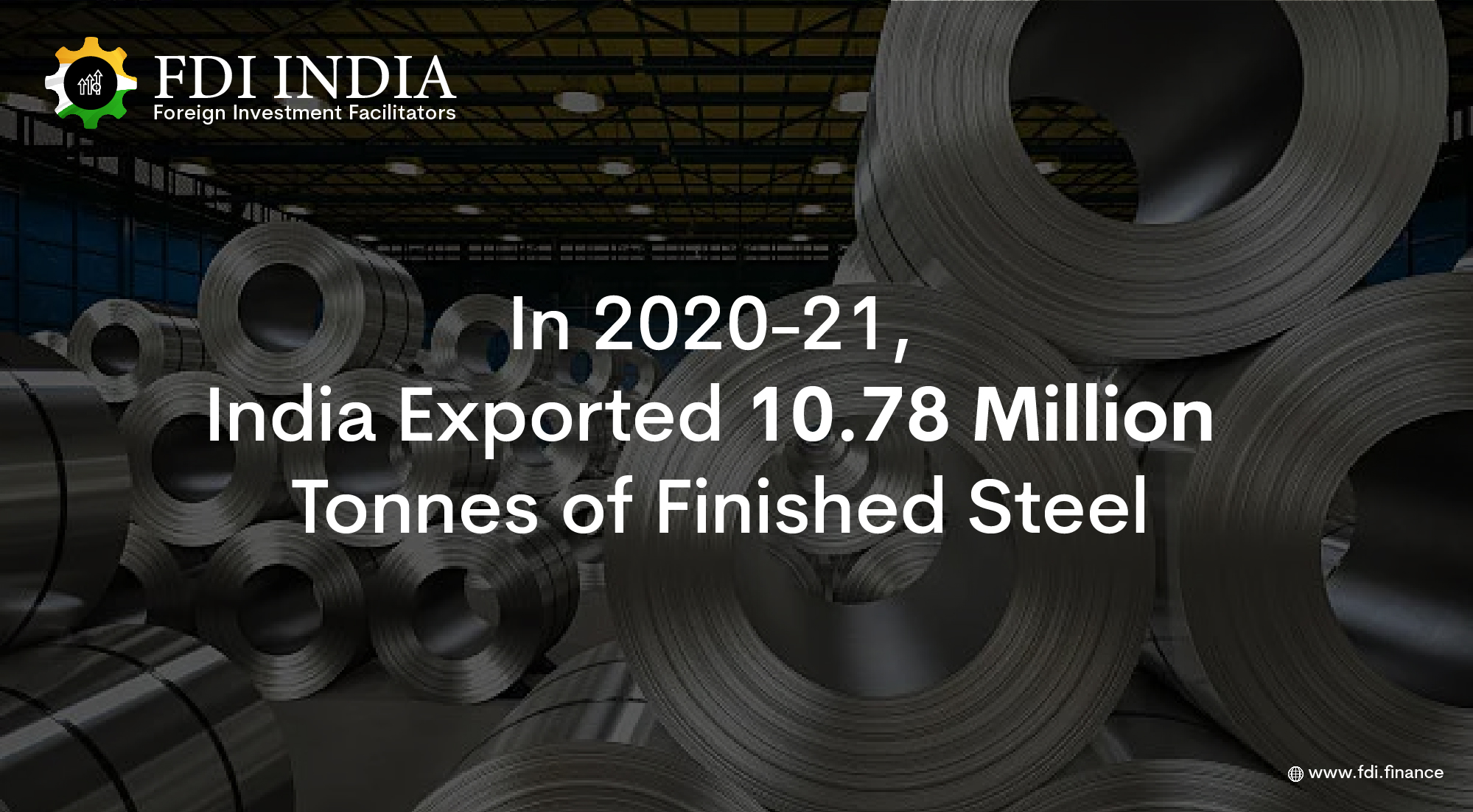 In 2020-21, India Exported 10.78 Million Tonnes of Finished Steel