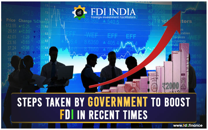 Steps Taken by Government to Boost FDI in Recent Times