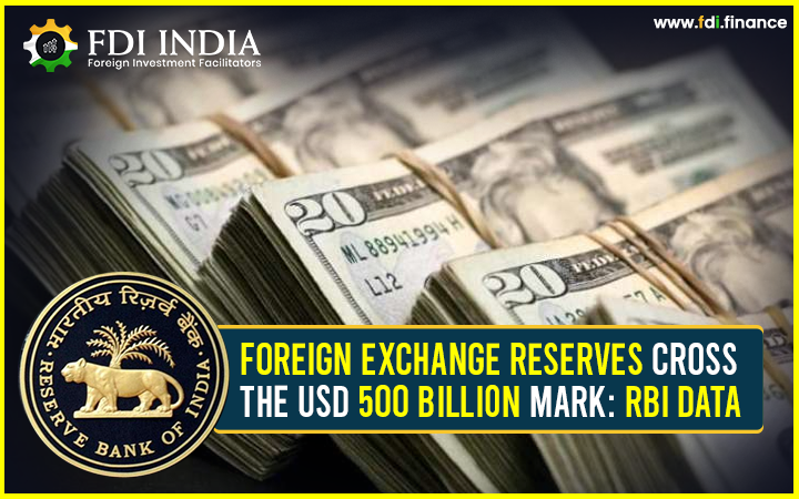 Foreign Exchange Reserves Cross the USD 500 Billion Mark: RBI Data