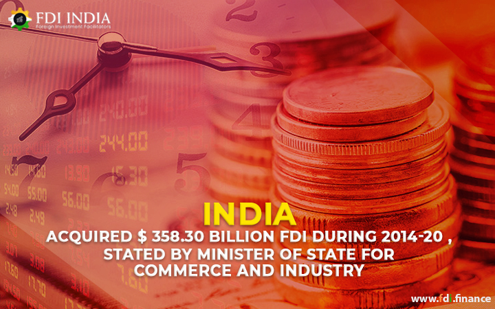 India Acquired $ 358.30 Billion FDI during 2014-20, Stated By Minister of State for Commerce and Industry