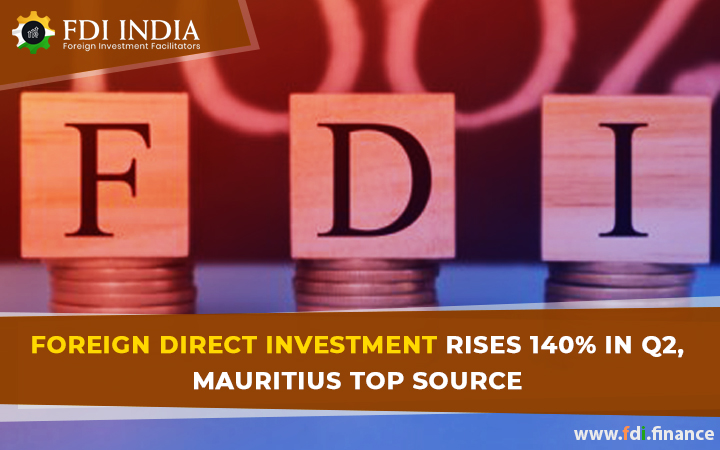 Foreign Direct Investment Rises 140% In  Q2, Mauritius Top Source