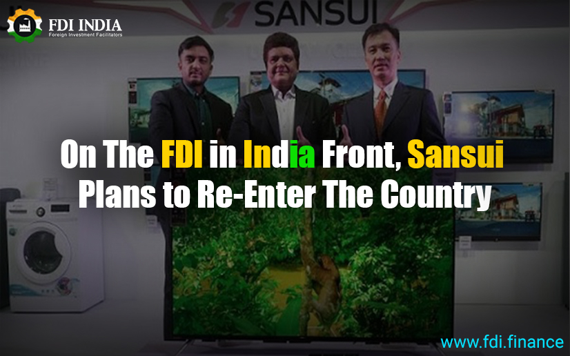 On The FDI In India Front, Sansui Plans To Re-Enter The Country