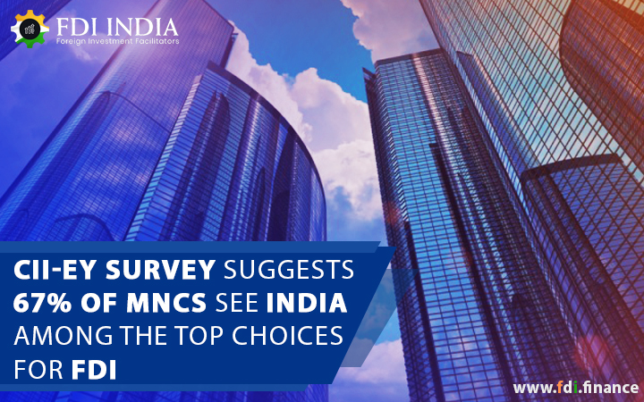 CII-EY Survey Suggests 67% Of Mncs See India Among The Top Choices For FDI