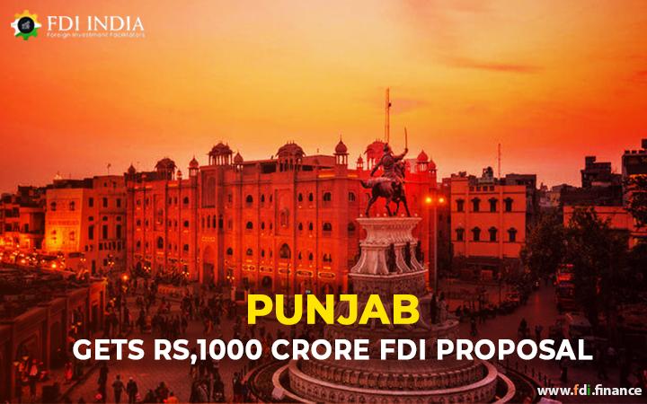 Punjab Gets Rs 1000 Crore FDI Proposal