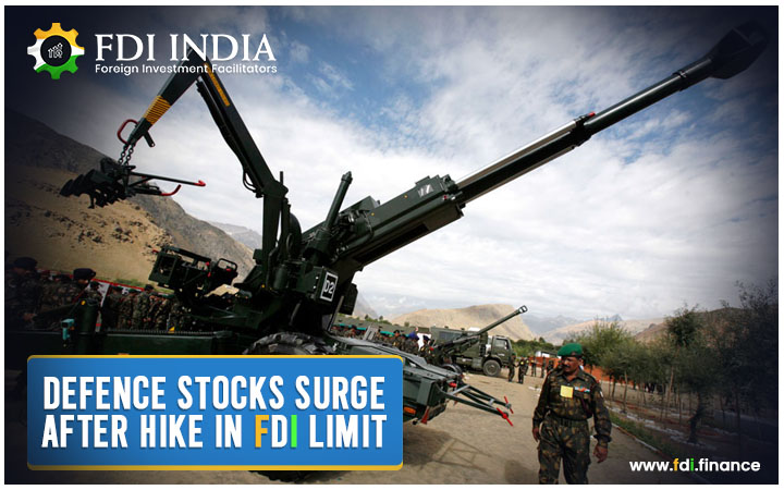 Defence Stocks Surge after Hike in FDI Limit