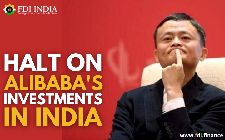 Halt on Alibaba's Investments in India