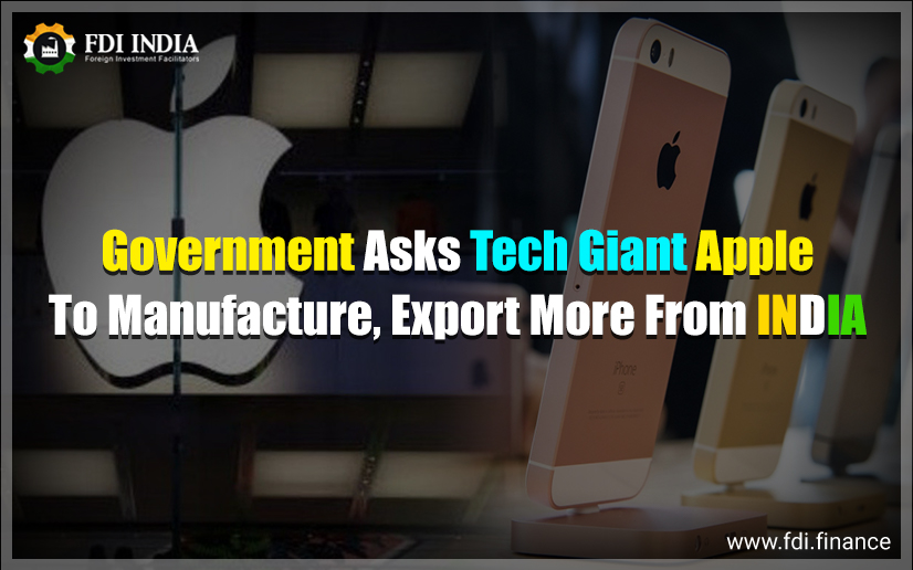 Government Asks Tech Giant Apple to Manufacture, Export More from India