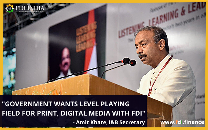 Government wants level playing field for print, digital media with FDI: I&B Secretary Amit Khare