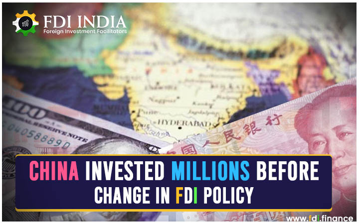China Invested Millions Before Change in FDI policy