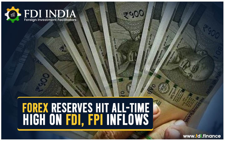 Forex Reserves hit all-time High on FDI, FPI Inflows