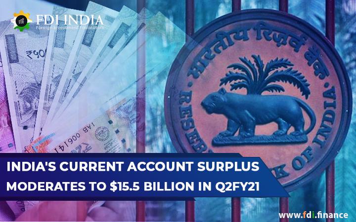 India's Current Account Surplus Moderates to $15.5 Billion in Q2FY21