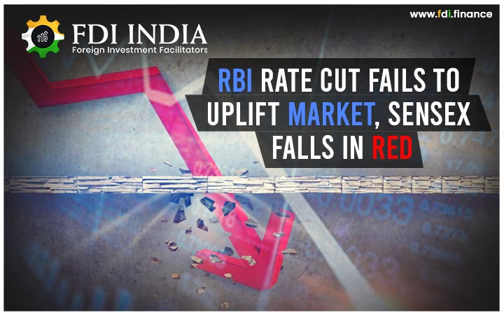RBI Rate Cut Fails to Uplift Market, Sensex Falls in Red