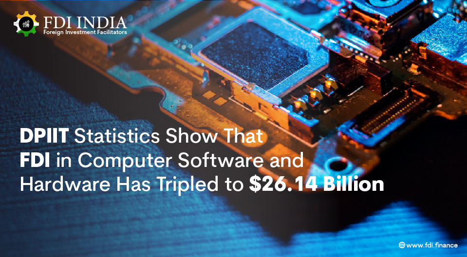 DPIIT Statistics Show That FDI in Computer Software and Hardware Has Tripled to $26.14 Billion