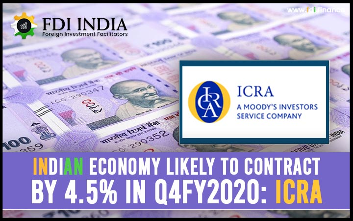 Indian Economy likely to contract by 4.5% in Q4FY2020: ICRA