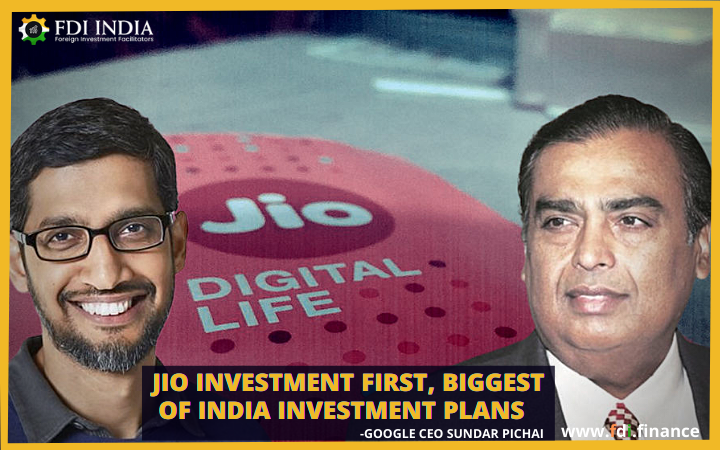 Jio Investment first, Biggest of India Investment Plans: Google CEO Sundar Pichai