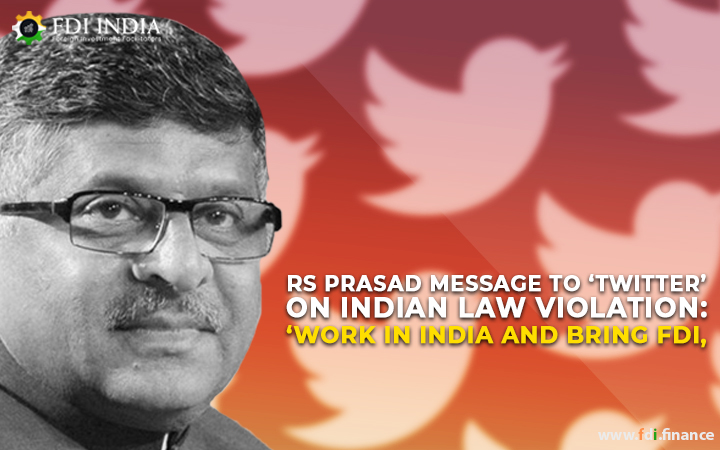 RS Prasad Message To 'Twitter' On Indian Law Violation: 'Work In India And Bring FDI