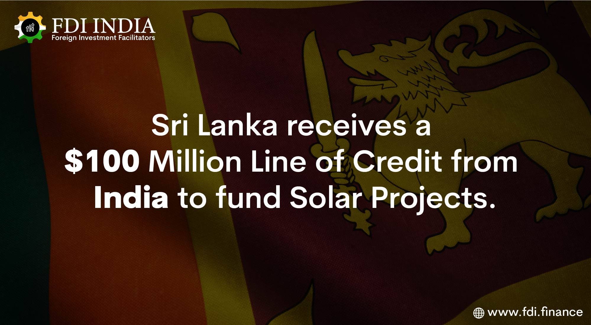 Sri Lanka Receives a $100 Million Line of Credit From India to Fund Solar Projects