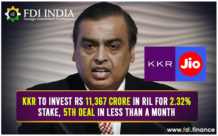 KKR to Invest Rs 11,367 Crore in RIL for 2.32% Stake, 5th Deal in Less than a Month