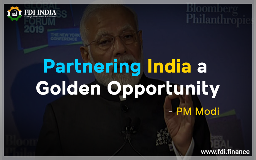 Partnering India A Golden Opportunity: PM Modi