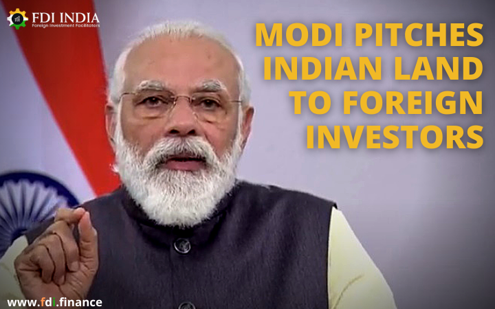 Modi Pitches Indian Land to Foreign Investors