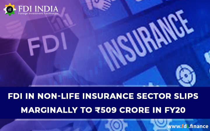 FDI in non-life insurance sector slips marginally to RS 509 crore in FY20