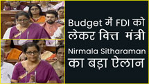 Big announcement by Finance Minister Niramala Sitharaman for FDI in this year's budget.